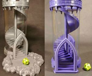 This Spiral Staircase Dice Roller is perfect for your next game of DnD