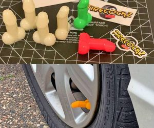 These penis shaped valve stem caps are perfect for pranking your friends! They glow in the dark too!
