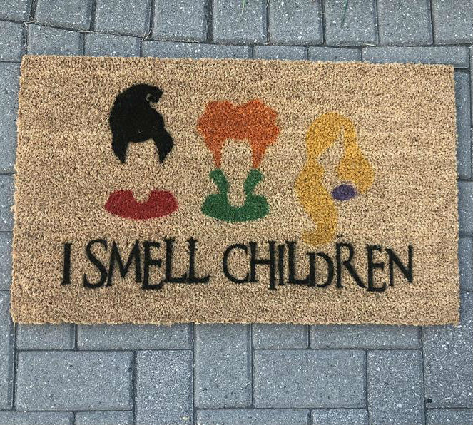 i smell children hocus pocus doormat