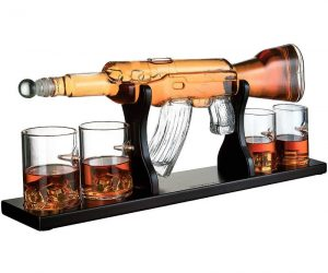Drinking whiskey will never be the same with this Elegant and classy large 22.5 inches M16 Gun Decanter – can you imagine how classy this will look in your bar?