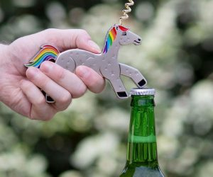 This Unicork is the cutest bottle opener ever! Oh and its horn doubles as a corkscrew.