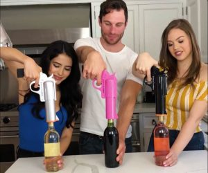 Open your wine like a boss with this electric gun wine bottle opener by WineOvation