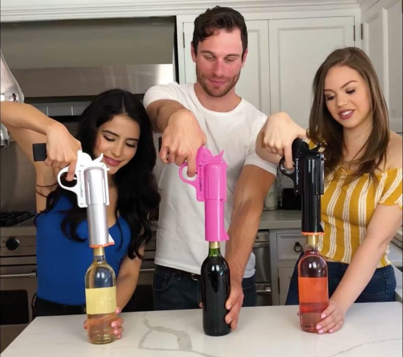 wine ovation wine gun bottle opener