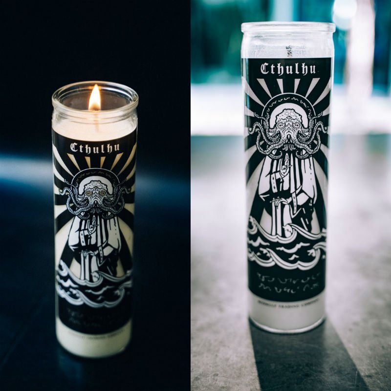 cthulhu prayer candle