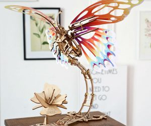 The UGears Butterfly 3D puzzle set is as unique as it is beautiful. It is made from high-grade 100%-natural plywood and doesn't require the use of any extra tools or