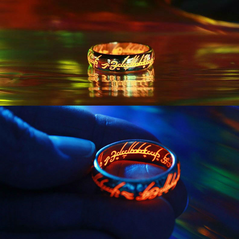 lord of the rings lotr one ring glow in the dark