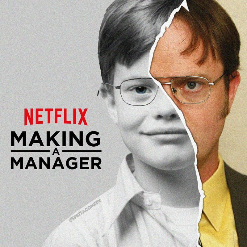 making a manager dwight schrute meme