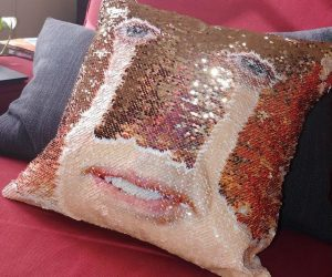 Nic Cage Sequin Pillow – Own the world's creepiest pillow