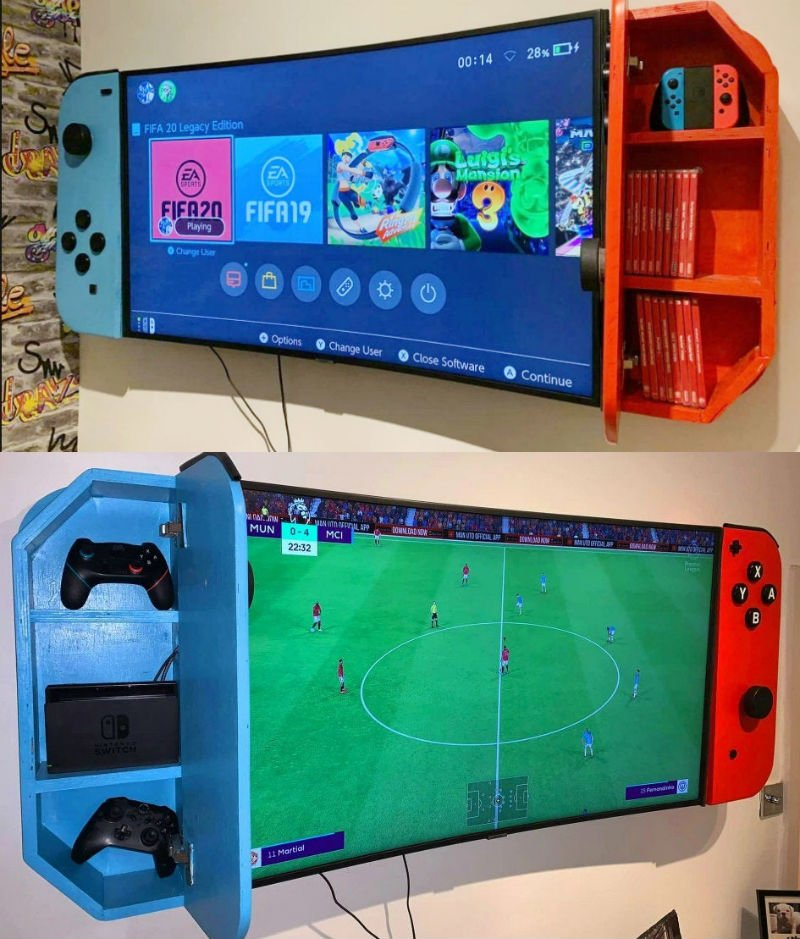 nintendo switch custom tv cabinets