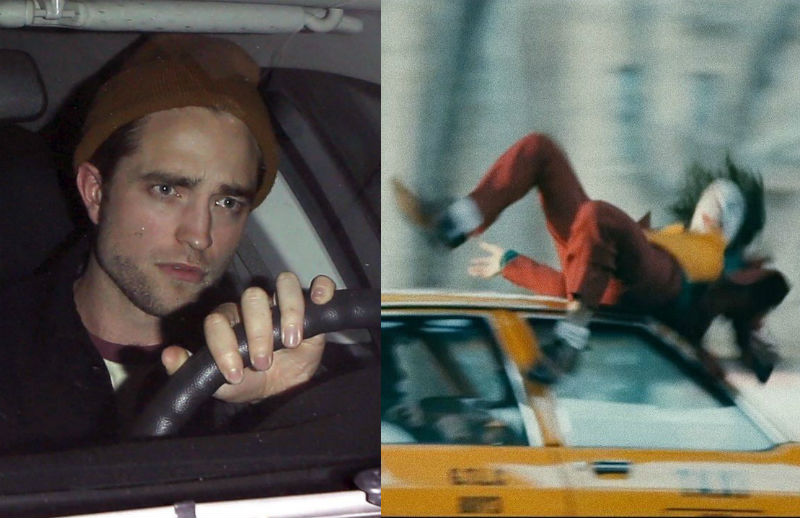 robert pattinson batman running over the joker meme