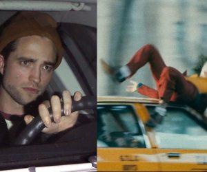 Robert Pattinson Batman running over The Joker meme