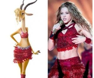 Shakira Superbowl meme Dress looks just like her Zootopia character