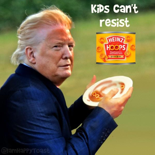 trump orange face heinz hoops