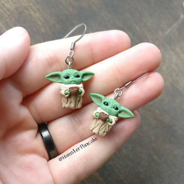 baby yoda earrings