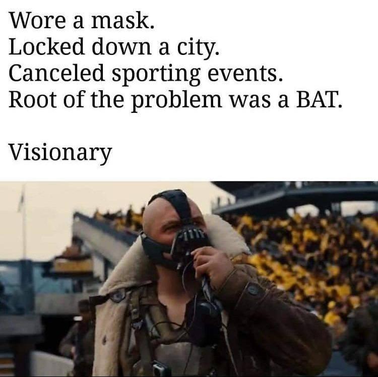bane batman visionary corona virus meme