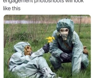 Couples Getting Married In 2021 Engagement Photoshoots Will Look Like This – Coronavirus Meme