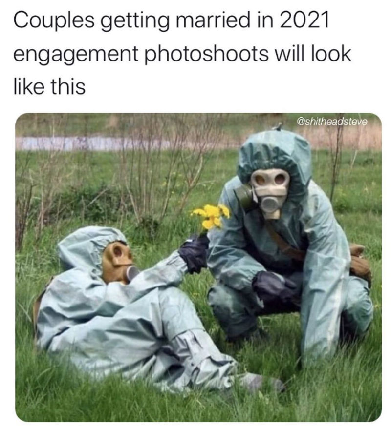 couples getting married in 2021 engagement photos will look like this meme
