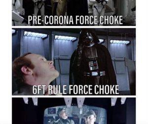 Even Vader practices social distancing meme – be more like Vader