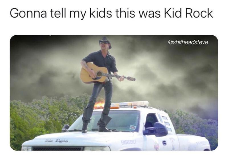 gonna tell my kids this was kid rock tiger king meme