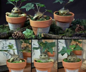 Harry Potter inspired Mandrake planters –This prop is a baby Mandrake inspired from the famous movies of the Harry Potter saga. We can briefly see their grown up version in