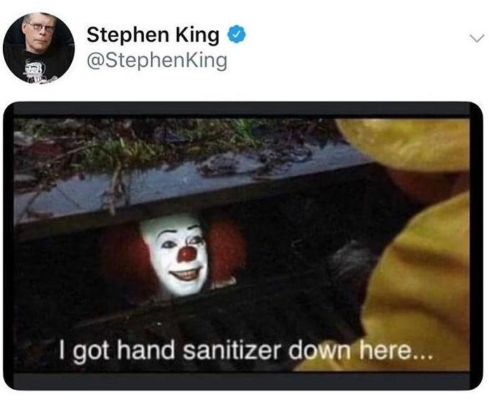 i got hand sanitizer down here it tweet