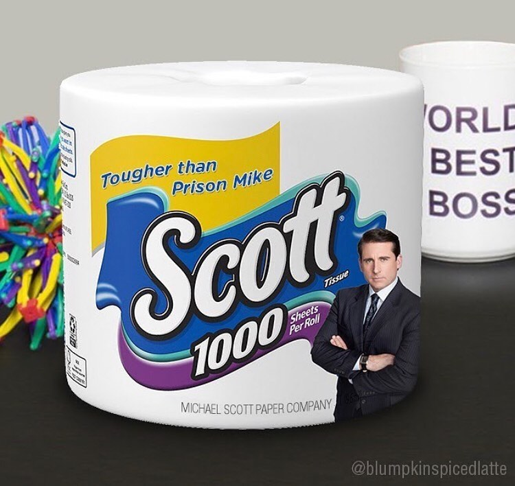 michael scott toilet paper meme