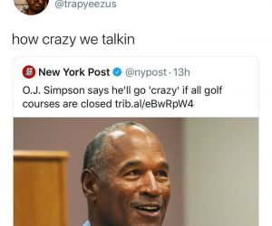 OJ Simpson Says He'll Go Crazy If All Golf Courses Are Closed – Coronavirus Meme