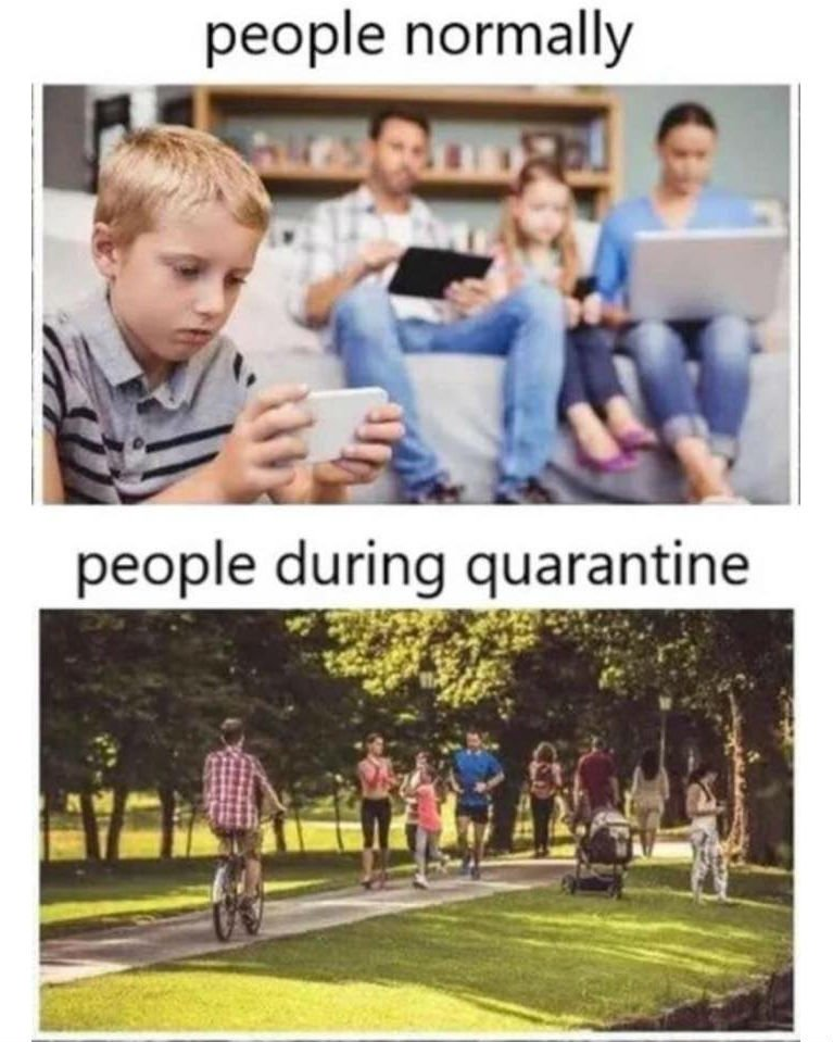 people normally vs people during quarantine