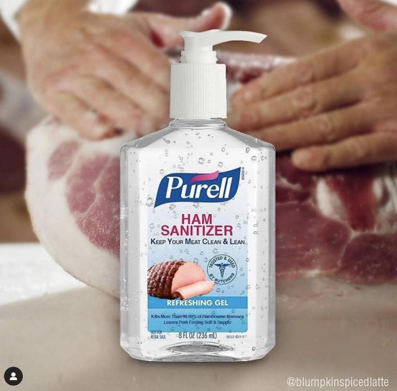 purell ham sanitizer meme