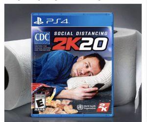 Social Distancing 2K20 PS4 Game – Coronavirus Meme