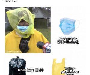 steal this look spring 2020 fashion corona virus meme