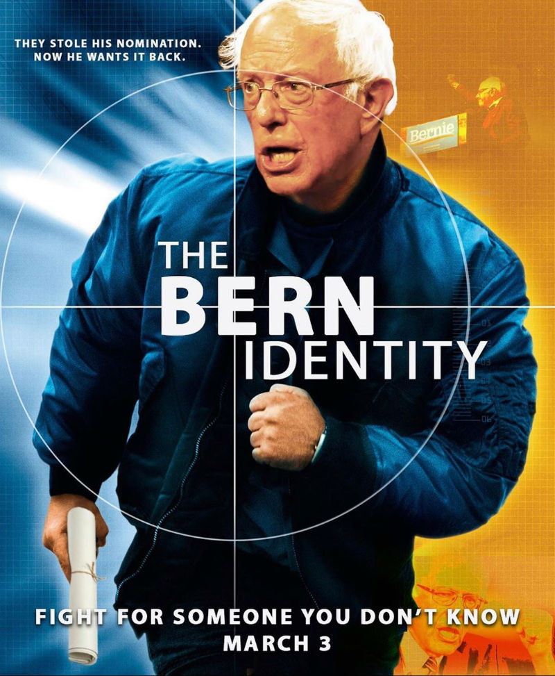 the bern identity movie poster meme