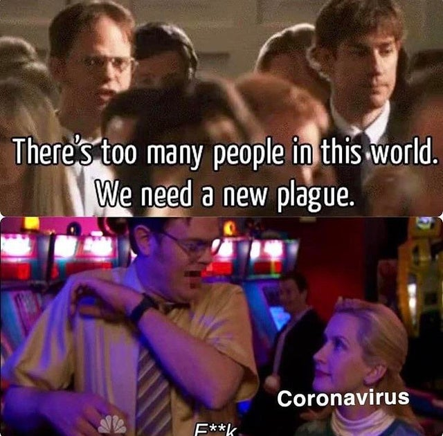 the office corona virus meme