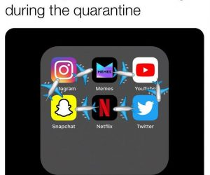 The Only Places I'm Traveling During The Quarantine – Meme
