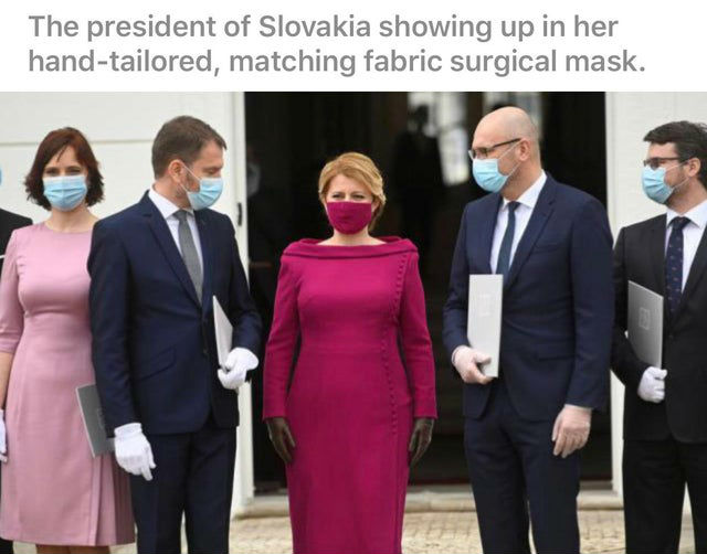 the president of slovakia surgical mask