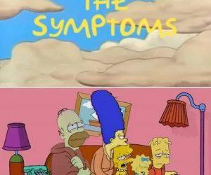 The Symptoms Simpsons Corona Virus meme