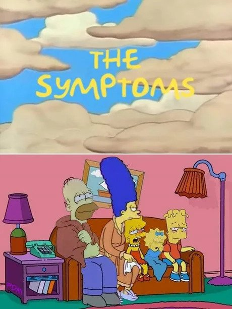 the symptoms simpsons corona virus meme