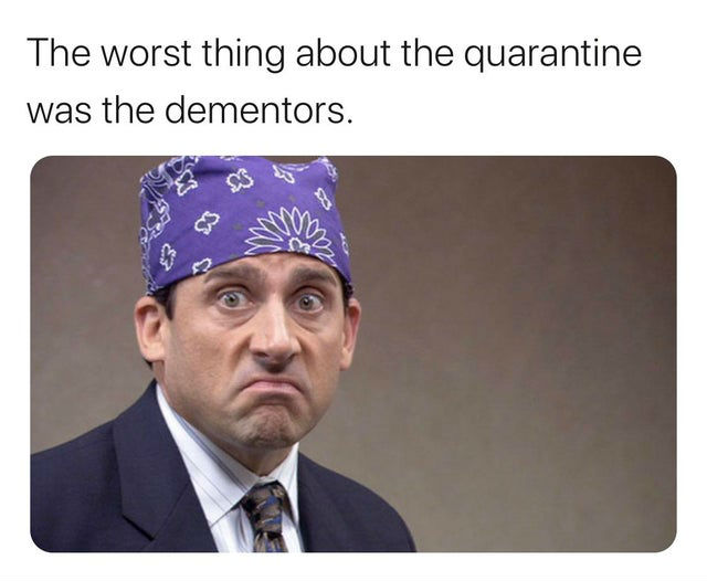 the worst thing about the quarantine was the dementors