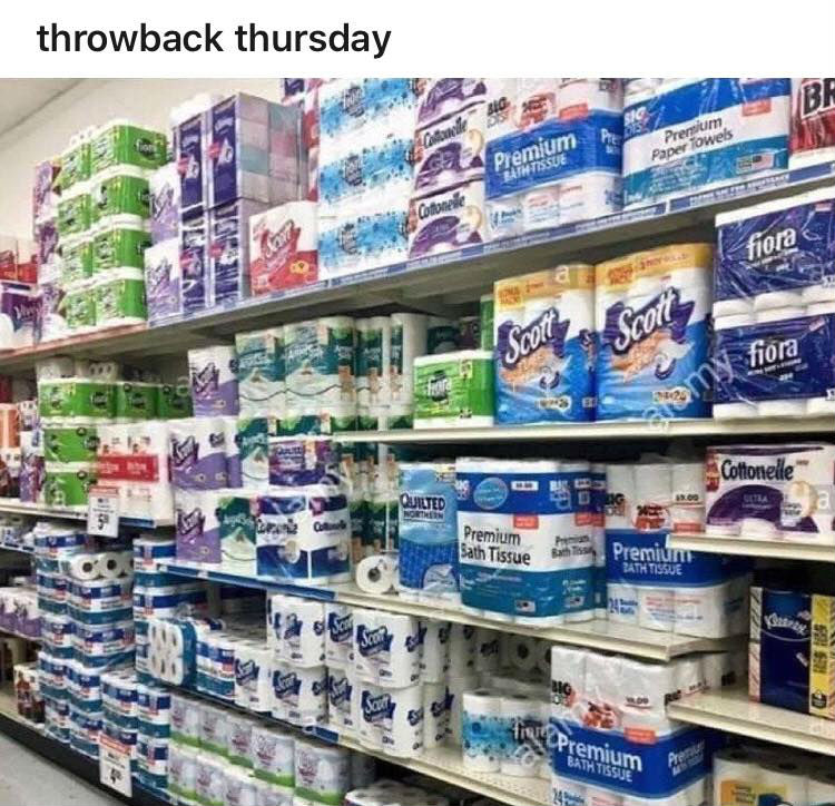 throwback thursday toilet paper meme