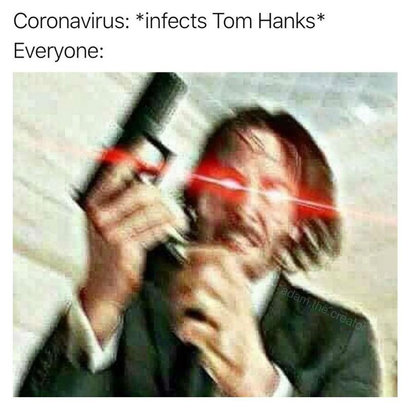 tom hanks corona virus meme