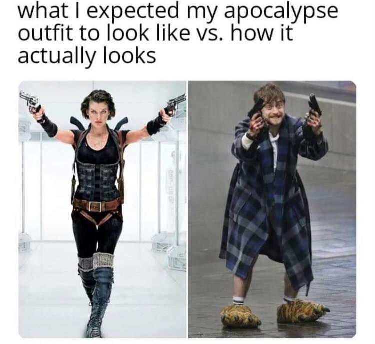 corona virus apocalypse outfit meme