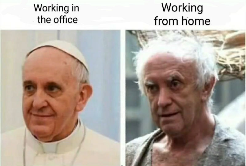 working in an office vs working from home