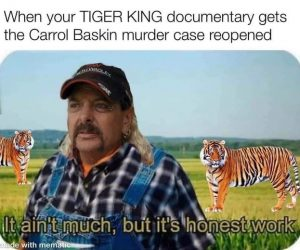 Ain't Much But It's Honest Work – Tiger King Meme