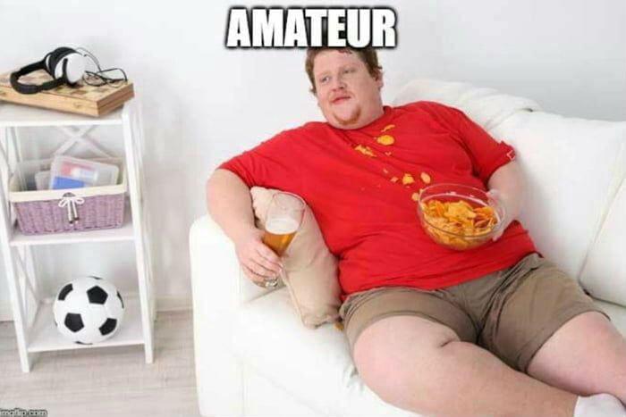 amateur fat guy on couch meme