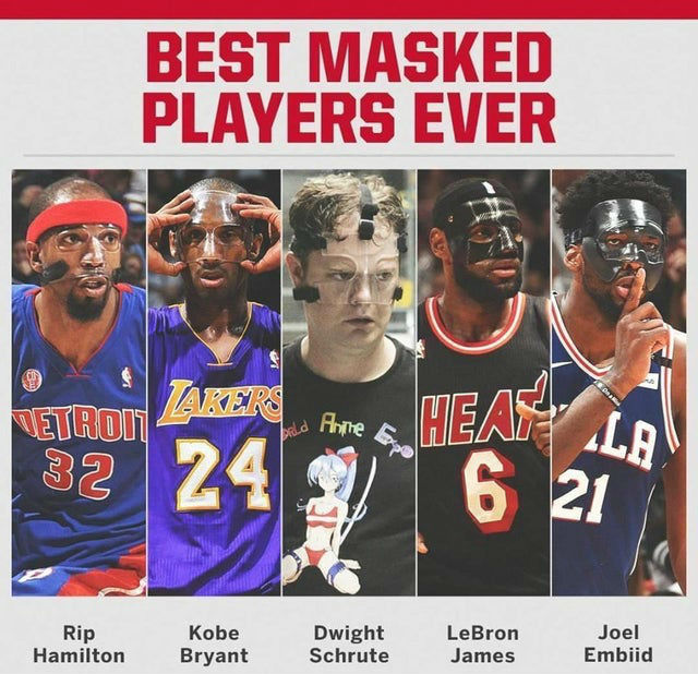 best masked players ever dwight schrute meme