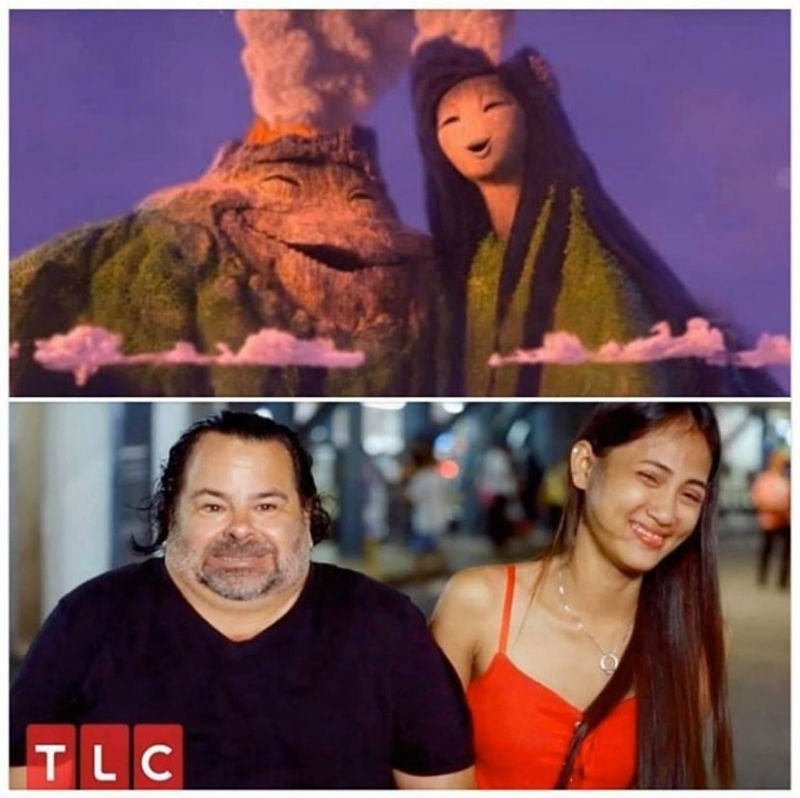 big ed and wife look like volcanoes from lava