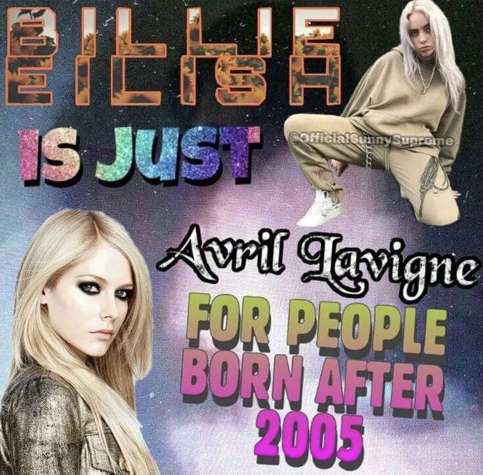 billie eilish is just avril lavigne