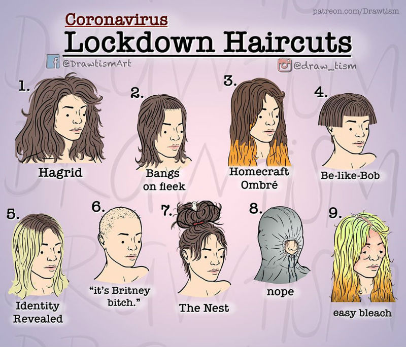 coronavirus lockdown haircut for ladies comic