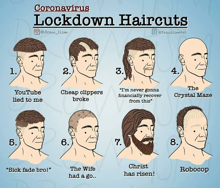types of corona lockdown haircuts