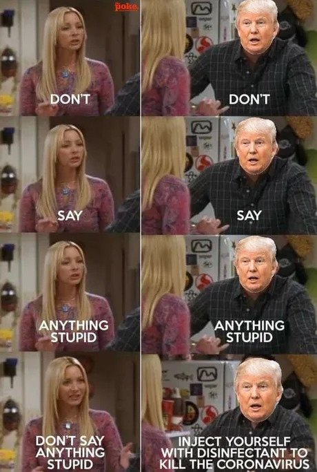dont say anything stupid donald trump lysol meme